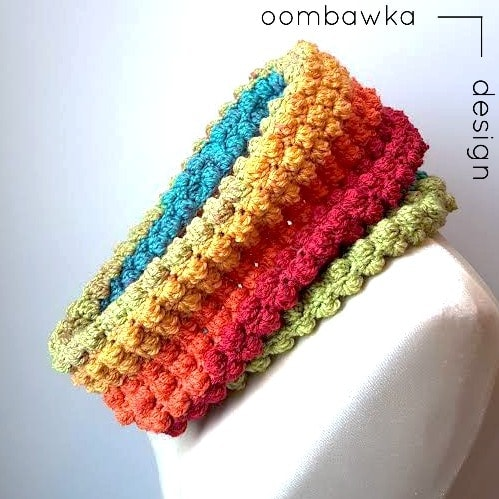 Scarf of the Month Club March All The Colors Cowl Oombawka Design