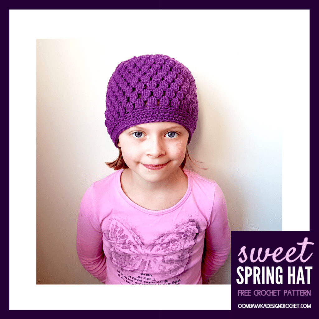 Sweet Spring Hat Free Pattern Oombawka Design Crochet Sizes Preemie to Adult Large