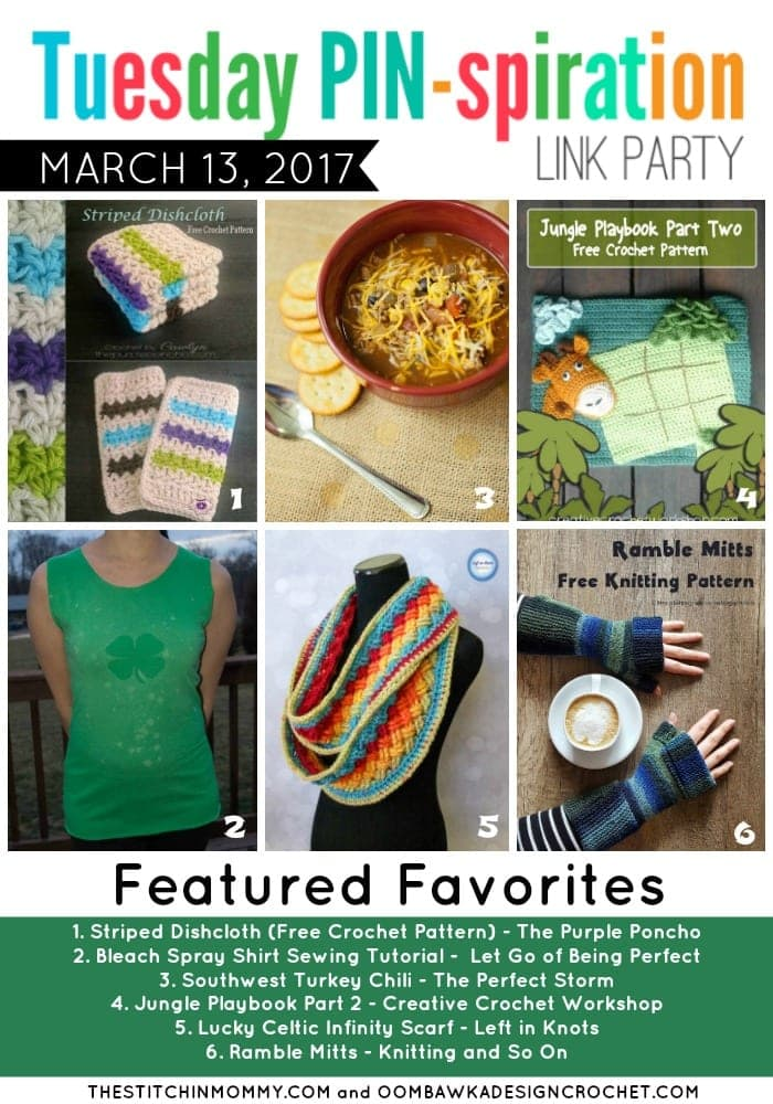 TUESDAY PIN-SPIRATION LINK PARTY FEATURED FAVORITES March 13 2017