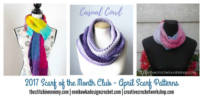 April Scarf of the Month Club Scarves