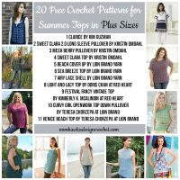 20 Free Crochet Patterns for Summer Tops Available in Plus Sizes