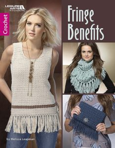 Cover - Fringe Benefits by Melissa Leapman at Leisure Arts - Book Review