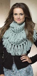 Infinity Cowl - Fringe Benefits by Melissa Leapman at Leisure Arts - Book Review
