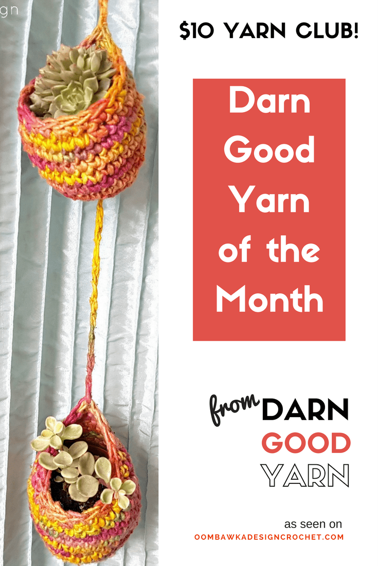 Check out my first Darn Good Yarn of the Month Unboxing Video and see what you get in your $10 Yarn Box! Giveaway Ends April 25, 2017 at 11:59 pm ET. Darn Good Yarn of the Month box! Get yours today!