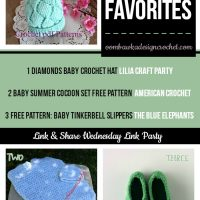 Featured Favorites at the Link & Share Wednesday Party: Lilia Craft Party, American Crochet and The Blue Elephants!