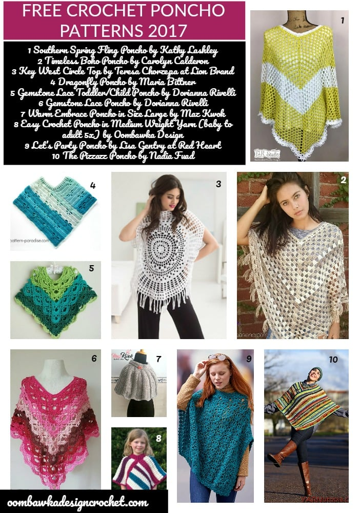 20 Free Crochet Poncho Patterns Oombawka Design Crochet