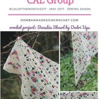 May Spring Shawl CAL Begins Today #CALOFTHEMONTH2017