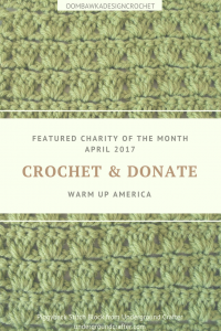 Featured Charity of the Month April 2017 - Warm Up America - Guest Post Marie Segares Underground Crafter