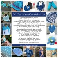 20 Free Patterns Crocheted in Blue