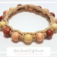 Beaded Boho Cuff Bracelet Pattern