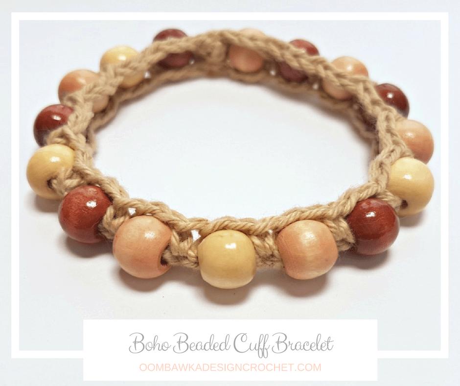 Boho Beaded Cuff Bracelet Pattern FB