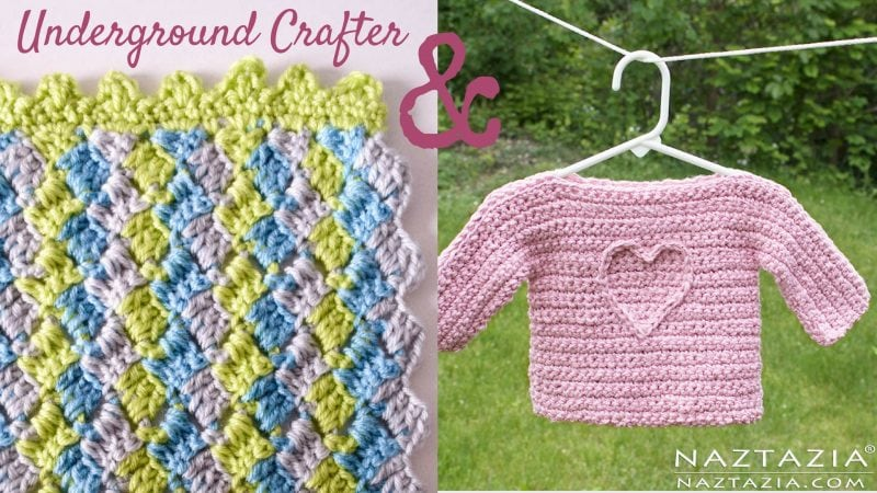 Crosshatch Stitch Baby Blanket free crochet pattern with video tutorial by Underground Crafter video collab cover
