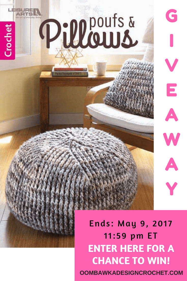Giveaway Alert! Poufs and Pillows Leisure Arts EBook