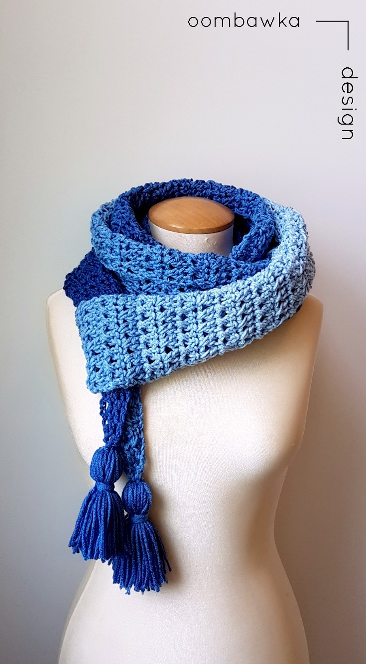 Ocean Breeze Scarf | Free Pattern | Oombawka Design