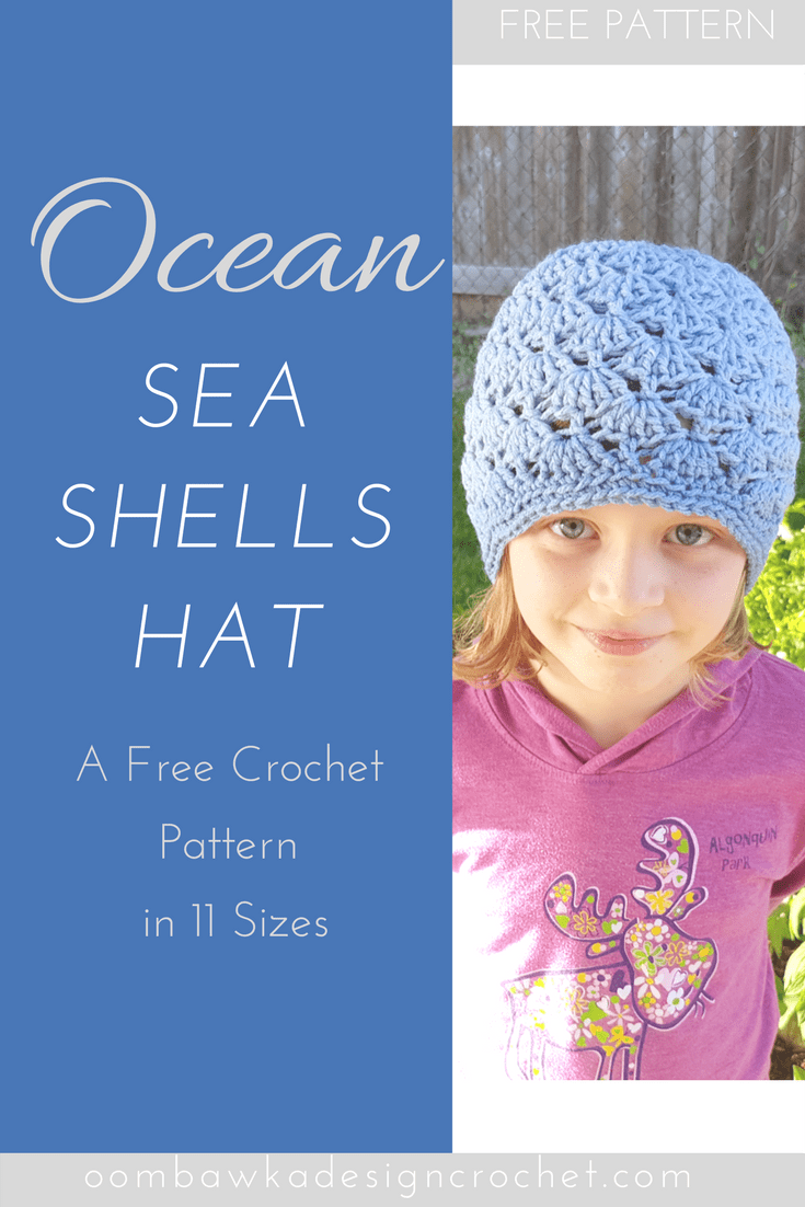 Ocean Sea Shells Hat - A Free Crochet Pattern in 11 Sizes by Oombawka Design
