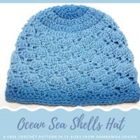 Ocean Sea Shells Hat – Free Pattern – 11 Sizes