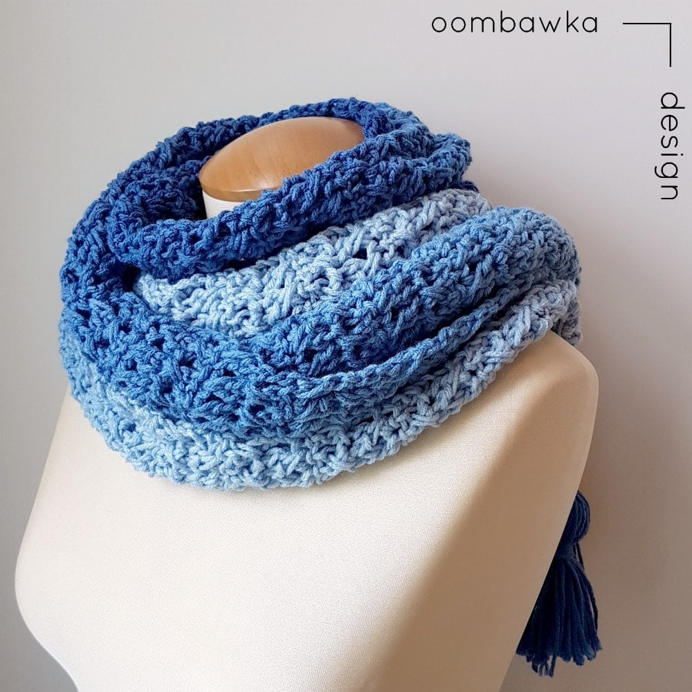 Ocean Breeze Scarf | Free Pattern | Oombawka Design FB