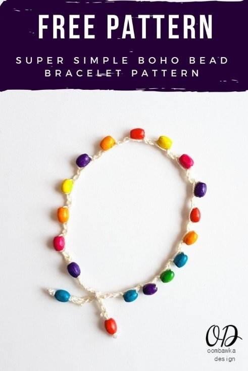 Super Simple Boho Bead Bracelet Pattern PIN