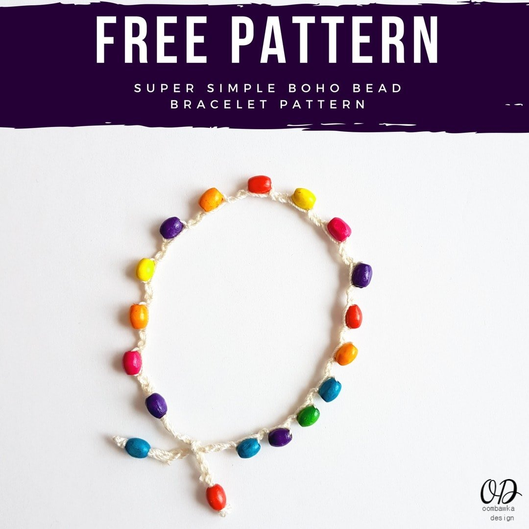 Super Simple Boho Bead Bracelet Pattern