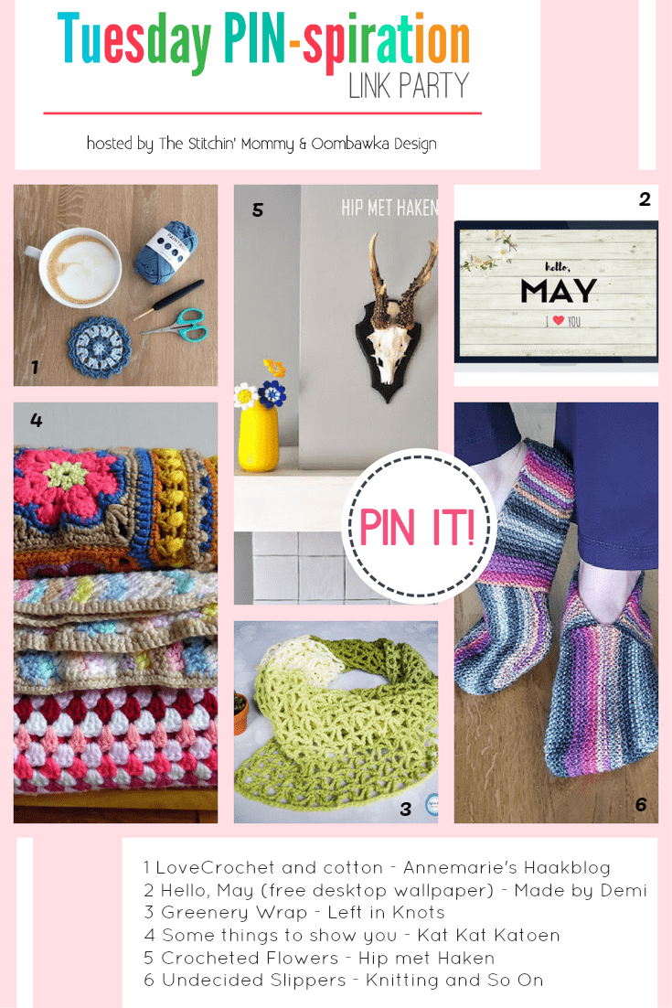 Featured This Week: Annemarie\'s Haakblog, Made by Demi, Left in Knots, Kat Kat Katoen, Hip met Haken and Knitting and so on