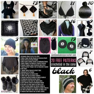 20 Free Patterns Crocheted in the Color Black