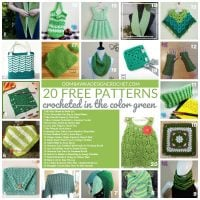 20 Free Patterns Crocheted in the Color Green