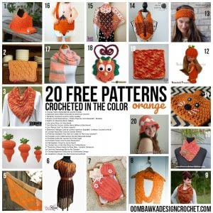 20 Free Patterns Crocheted in the Color Orange