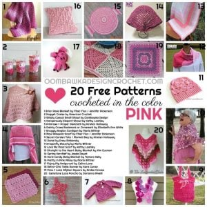 20 Free Patterns Crocheted in the Color Pink a Free pattern Friday Round Up