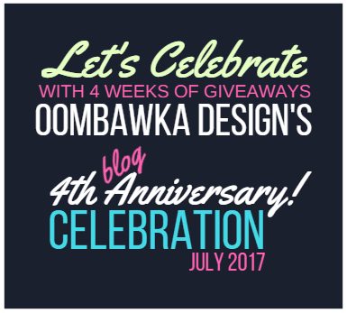 4 Year Blog Anniversary Oombawka Design