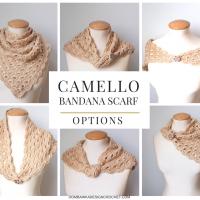 Camello Bandana Scarf – June #SCARFOFTHEMONTHCLUB2017 Free Pattern