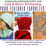 Featured Favorites: Free Crochet Patterns and Instructions! Make a Pretty Banded Hat, a Boho Chic Shawl and Learn How To Soften Acrylic Yarn