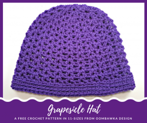 Grapesicle Hat A Free Pattern in 11 Sizes from Oombawka Design