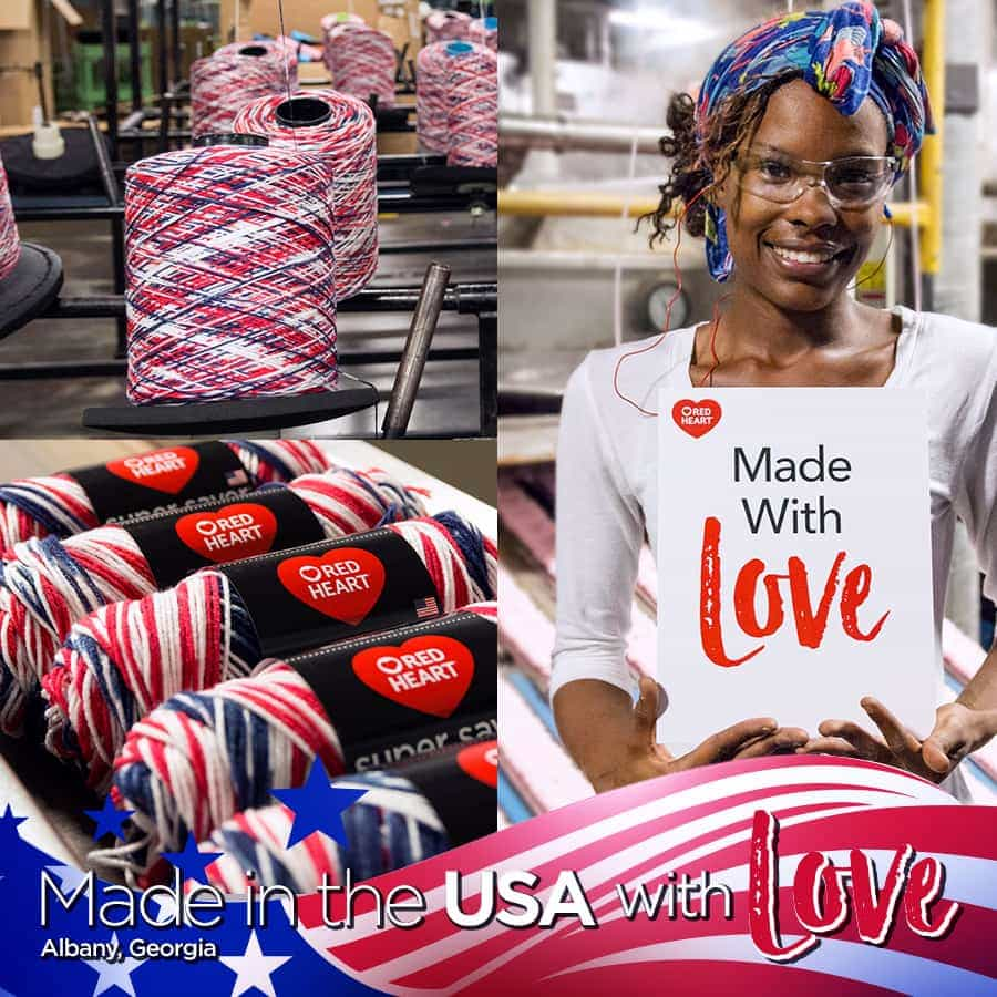 Made in the USA Red Heart
