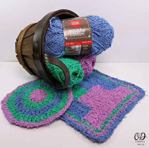 Scrubby Cotton and 2 Free Dishcloth patterns