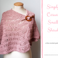 Simply Casual Small Shawl – Free Pattern