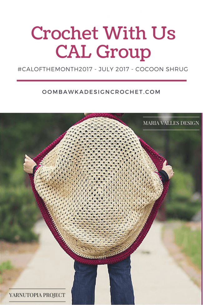 The July Cocoon Cardigan CAL Starts today!