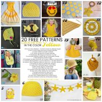 20 Free Patterns Crocheted in the Color Yellow