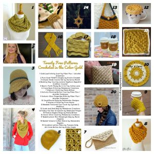 20 Free Patterns Crocheted in the Color Gold
