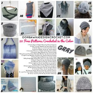20 Free Patterns Crocheted in the Color Gray