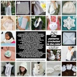 20 Free Patterns Crocheted in the Color White