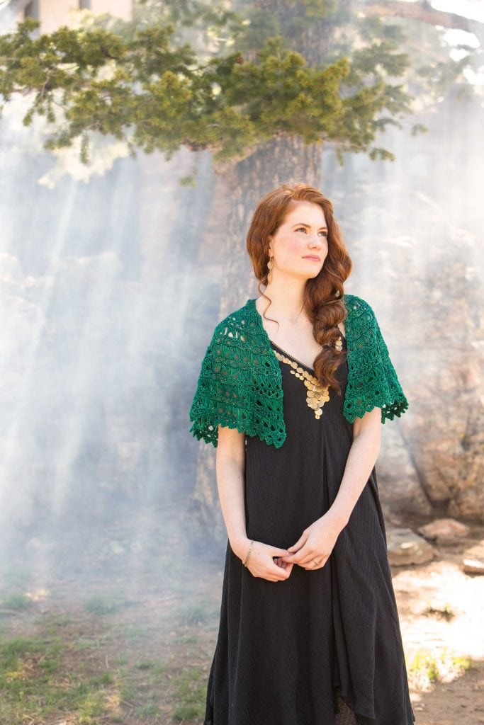 Flying Broomstick Lace Shawl - Classic Crochet Shawls