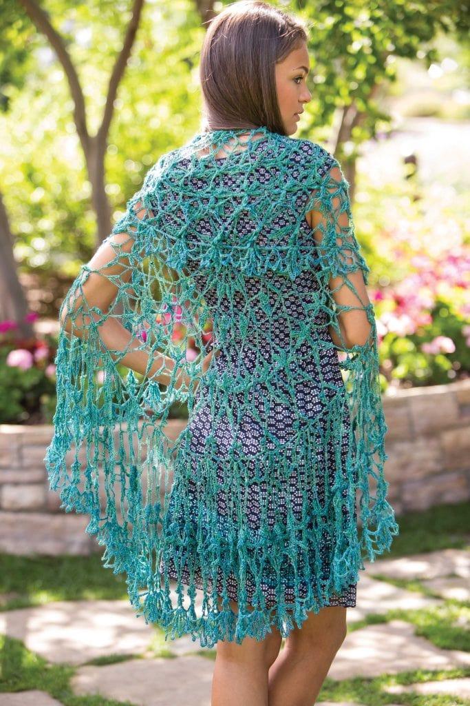 Parisian Gardens Circular Shawl -Classic Crochet Shawls