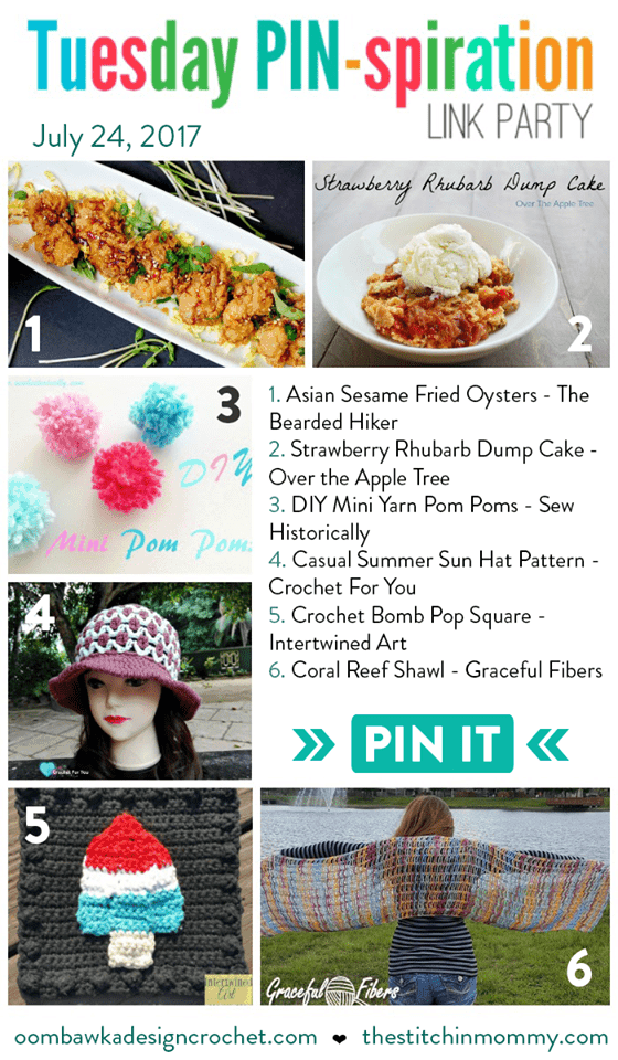 Featured this week at the Tuesday PIN-spiration Link Party