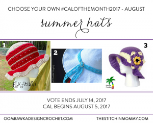 Vote for August's Summer Hat CAL #CALOFTHEMONTH2017
