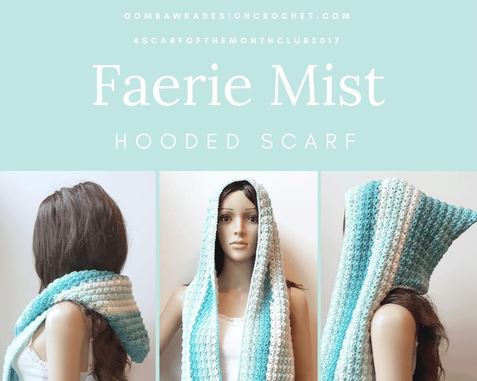 Faerie Mist Hood Scarf 3 Oombawka Design Crochet