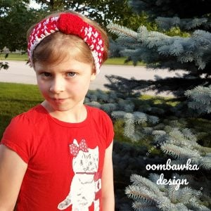 Holiday Spirit Headband OombawkaDesignCrochet