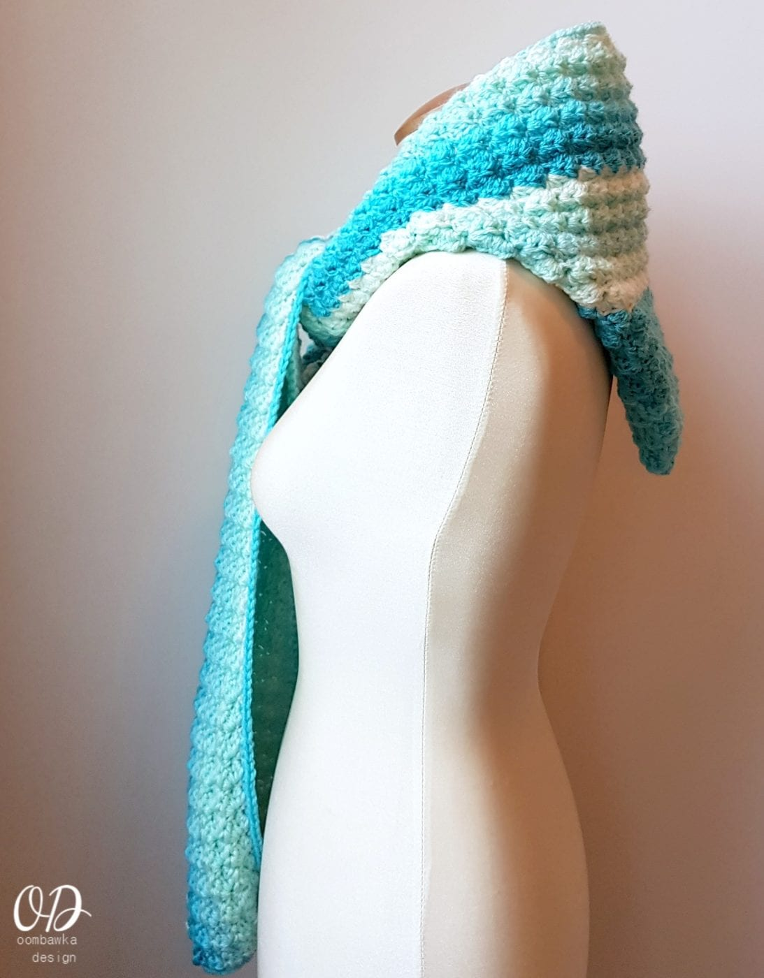 Faerie Mist Hooded Scarf Free Pattern • Oombawka Design Crochet