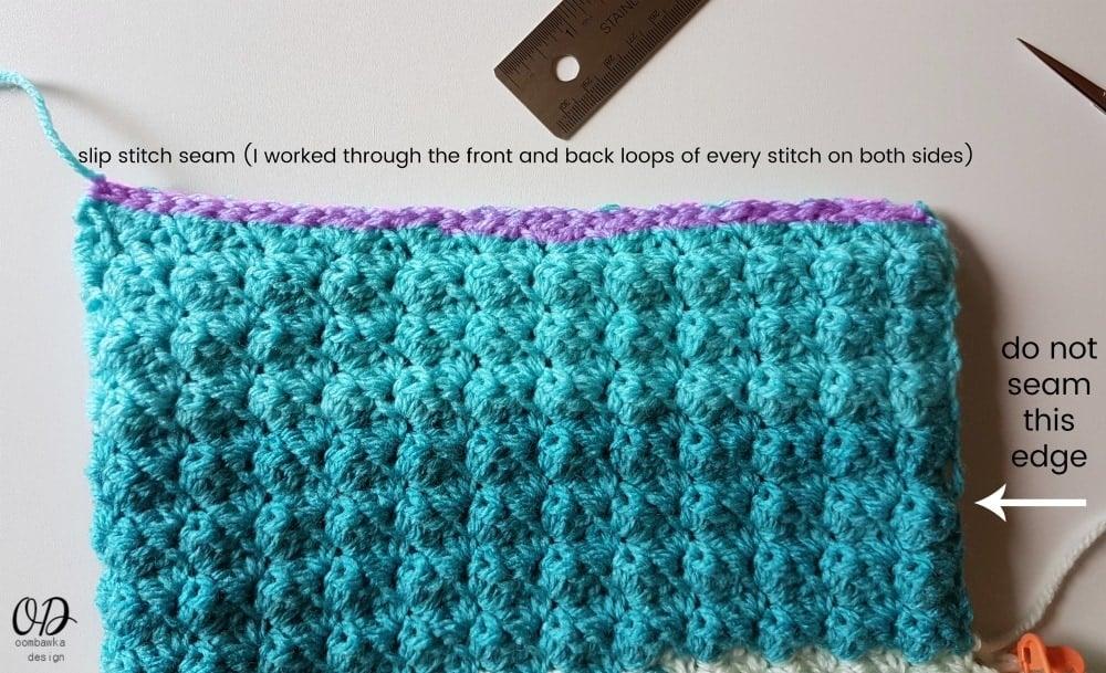 Slip Stitch Seam