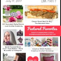 Featuring: UCrafter, Just A Little Creativity, The Bearded Hiker, Crochet Memories, Creative Crochet Workshop and Sew Historically!