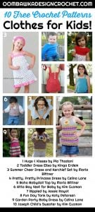 10 Free Crochet Patterns for Clothes for Kids